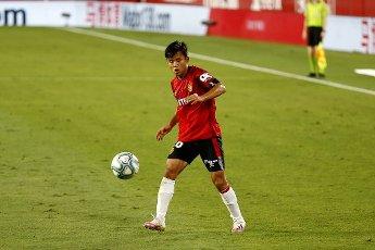 "Takefusa Kubo (Mallorca), JULY 12, 2020 - Football \/ Soccer : Spanish ""La Liga Santander"" match between Sevilla FC 2-0 RCD Mallorca at the Estadio Ramon Sanchez-Pizjuan in Sevilla, Spain. (Photo by Mutsu Kawamori\/AFLO"