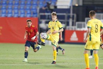 Linas Megelaitis (LTU), JUNE 8, 2021 - Football \/ Soccer : International Friendly match between Spain 4-0 Lithuania at the Estadio Butarque in Leganes, Spain. (Photo by Mutsu Kawamori\/AFLO