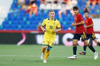 Domantas Simkus (LTU), JUNE 8, 2021 - Football \/ Soccer : International Friendly match between Spain 4-0 Lithuania at the Estadio Butarque in Leganes, Spain. (Photo by Mutsu Kawamori\/AFLO