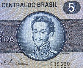 RETRATO DE PEDRO I DE BRASIL Y IV DE PORTUGAL 1798-1834 EN UN BILLETE DE 5 CRUZEIROS BRASILEÑOS. PEDRO IV DE PORTUGAL. PEDRO I DE BRASIL Y IV PORTUGAL. BRAGANZA PEDRO.RETRATO DE PEDRO I DE BRASIL Y IV DE PORTUGAL 1798-1834 EN UN BILLETE DE 5 CRUZEIROS BRASILEÑOS. PEDRO IV. VON PORTUGAL. PEDRO I DE BRASIL Y IV PORTUGAL. BRAGANZA PEDRO.. Album \/ Oronoz. .