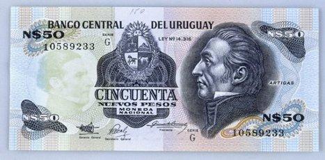 BILLETE DE CINCUENTA NUEVOS PESOS URUGUAYOS - ANVERSO. JOSE GERVASIO ARTIGAS.BILLETE DE CINCUENTA NUEVOS PESOS URUGUAYOS - ANVERSO. JOSE GERVASIO ARTIGAS.. Album \/ Oronoz. .