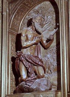 S JERONIMO PENITENTE - ESCULTURA EN MADERA POLICROMADA 1609-1613 - BARROCO ESPAÑOL. Autor: Juan Martínez Montañés. Localización: MONASTERIO DE SAN ISIDORO DEL CAMPO. SANTIPONCE. Sevilla. ESPAÑA.S JERONIMO PENITENTE - ESCULTURA EN MADERA POLICROMADA 1609-1613 - BARROCO ESPAÑOL. Author: Juan Martínez Montañés. Location: MONASTERIO DE SAN ISIDORO DEL CAMPO. SANTIPONCE. Seville. SPAIN.. Album \/ Oronoz. Seville SPAIN.