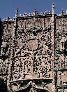 FACHADA - 1488\/1496 - ANTIGUO COLEGIO DE SAN GREGORIO - GOTICO FLAMIGERO - FOTO AÑOS 60. Autor: Gil De Siloe. Localización: MUSEO NACIONAL DE ESCULTURA-EDIFICIO. Valladolid. ESPAÑA.FACHADA - 1488\/1496 - ANTIGUO COLEGIO DE SAN GREGORIO - GOTICO FLAMIGERO - FOTO AÑOS 60. Author: Gil De Siloe. Location: MUSEO NACIONAL DE ESCULTURA-EDIFICIO. Valladolid. SPAIN.. Album \/ Oronoz. Valladolid SPAIN.