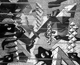 M. C. Escher: Platelmintos, 1939. Autor: Maurits Cornelis Escher.M. C. Escher: Platelmintos, 1939. Author: Maurits Cornelis Escher.. Album. .