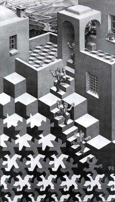 M. C. Escher: Ciclo (Cycle. Lithograph), 1938. Autor: Maurits Cornelis Escher.M. C. Escher: Ciclo (Cycle. Lithograph), 1938. Author: Maurits Cornelis Escher.. Album. .