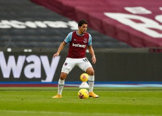 16th January 2021; London Stadium, London, England; English Premier League Football, West Ham United versus Burnley; Pablo Fornals of West Ham