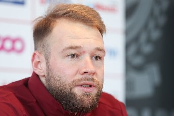 Standard\'s new player Joao Klauss pictured during a press conference of Belgian soccer team Standard de Liege, to present a new player, of both Italian and Brazilian nationalities, Monday 18 January 2021 in Liege. BELGA PHOTO BRUNO FAHY