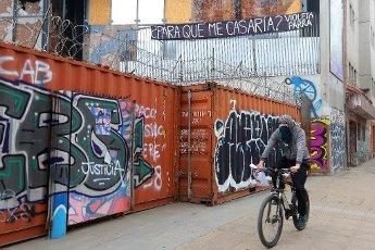 Santiago. 14 Agosto de 2020. Lugares de la zona Cero recuperadas en Santiago, que fueron destruidas durante los incidentes del llamado estallido social del 18 de octubre de 2019