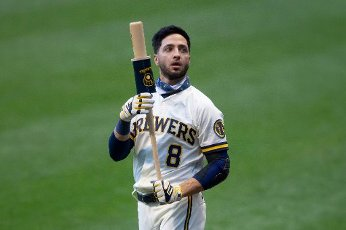 August 11, 2020: Milwaukee Brewers Ryan Braun during the Major League Baseball game between the Milwaukee Brewers and the Minnesota Twins at Miller Park in Milwaukee, WI. John Fisher