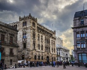Lateral view of the Postal Palace Building in downtown, Mexico City