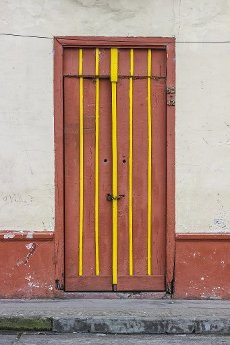 Typical doors in Caicedonia town, Valle del Cauca