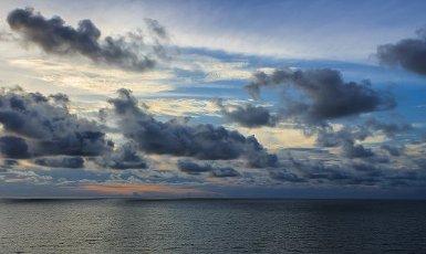 Sunrise on the beach at Cartagena de Indias, Bolívar