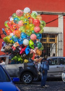 Colorful balloons in San Jacinto\'s