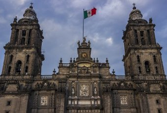 Metropolitan Cathedral in downtown, Mexico City