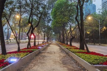 Paseo de la Reforma, one of the most important and emblematic avenues in Mexico City