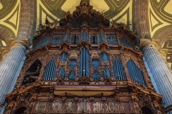 Organ of the Metropolitan Cathedral of the Assumption of Mary of Mexico City, in Mexico City\'s downtown