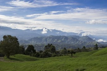 Mountains from Salento at the Cocora