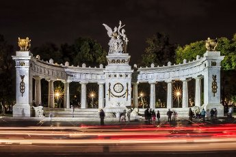 Cenotaph to honor the former president Benito Juarez at the central grove in downtown, Mexico City