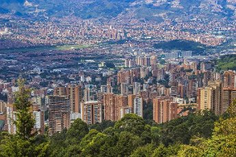 View of Medellín city from gazer, Antioquia
