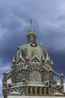 Dome of the Palace of Culture in Medellín, Antioquia