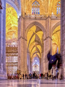 Gothic aisle, Cathedral of Seville, Spain