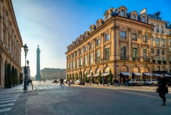 Place Vendome from Rue de la Paix, Paris, France