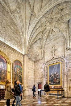 Sacristy of the Chalices, with a painting by Goya (right), Santa Maria de la Sede Cathedral, Seville