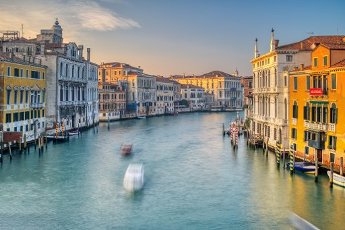 Westward view of the Grand Canal from Ponte dell\'Accademia, Venice