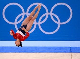 27 July 2021, Japan, Tokio: Gymnastics: Olympics, team, women, final, floor, at the Ariake Gymnastics Centre: Sunisa Lee from the USA in action. Photo: Marijan Murat\/dpa