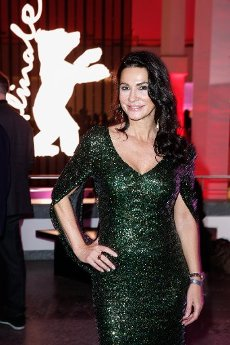 """20 February 2020, Berlin: 70th Berlinale, Opening Party: Mariella Ahrens at the opening party of the International Film Festival. The Berlinale opens with the film """"My Salinger Year"""". Photo: Gerald Matzka/dpa-Zentralbild/"""