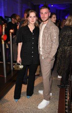 21 February 2020, Berlin: 70th Berlinale, Party Blue Hour: Actress Alicia von Rittberg and her husband actor Jannik Schümann. The International Film Festival takes place from 20.02. to 01.03.2020. Photo: Britta Pedersen/dpa-zentralbild/