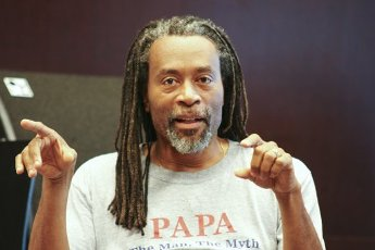 Loerrach, Germany - July 01, 2009: Bobby McFerrin at a Press Conference for his Performance Bobble, the Power of Improvisation during the Stimmen Music Festival. Mc Ferrin | usage