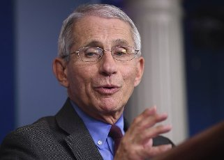 Director of the National Institute of Allergy and Infectious Diseases at the National Institutes of Health Dr. Anthony Fauci, speaks at a Coronavirus briefing at the White House on Friday, April 10, 2020, in Washington, DC. With the U.S. death toll from the coronavirus pandemic expected to peak over the weekend, most of the country will be firmly under stay-at-home orders on Easter Sunday. Credit: Kevin Dietsch / Pool via CNP | usage