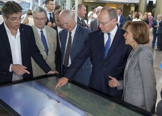 Monaco, Monte Carlo - September 07, 2015: HSH Prince Albert II of Monaco opens Escales Au Bout Du Monde Exposition at Grimaldi Forum. Fuerst, Prinz, Royal, Royals, H.S.H., | usage