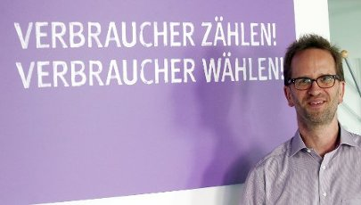 12 August 2020, Berlin: Klaus Müller, head of the Federation of German Consumer Organisations (VZBV), at the beginning of a dpa interview. Photo: Wolfgang Kumm\/dpa