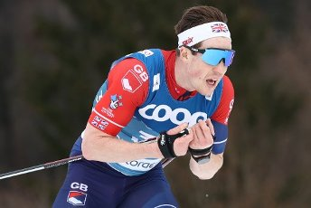 03 March 2021, Bavaria, Oberstdorf: Nordic skiing: World Championships, cross-country - 15 km freestyle, men. Andrew Musgrave from Great Britain in action. Photo: Daniel Karmann\/dpa