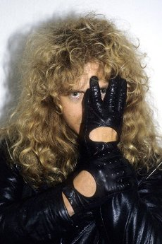 Midnight by Crimson Glory at a backstage photoshoot at Hammerswithh Odeon. London, February 15, 1987 | usage worldwide
