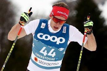 03 March 2021, Bavaria, Oberstdorf: Nordic skiing: World Championships, cross-country - 15 km freestyle, men. Florian Notz from Germany in action. Photo: Daniel Karmann\/dpa