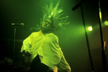 Galactic Cowboys\' Ben Huggins live at the Marquee Club. London, 08\/28\/1991   usage worldwide