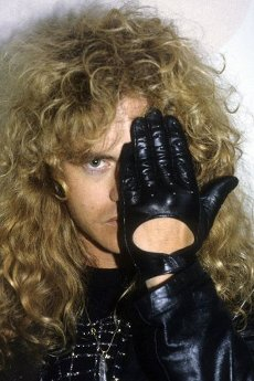 Midnight by Crimson Glory at a backstage photoshoot at Hammerswithh Odeon. London, February 15, 1987   usage worldwide