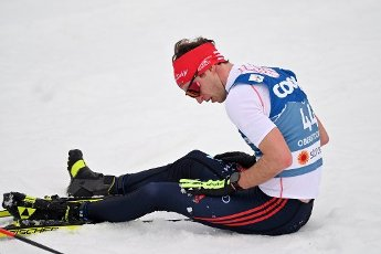 Florian NOTZ (GER) at the finish, exhausted, action, single action, single image, cut out, whole body shot, whole figure. Cross Country Men 15 km Interval Start Free, cross-country skiing, men on 03.03.2021. FIS Nordic World Ski Championships 2021 in Oberstdorf from February 22nd to March 7th, 2021.   usage worldwide