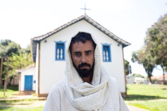 Marcelo Augusto Ramos, actor who plays Jesus in the Via Sacra do Morro da Capelinha, in Planaltina, Brazil, 10 April 2020. Some 250 thousand people were to participate in the Via Crucis at the chapel that was closed by the police due to the coronavirus emergency. EFE/ Joedson Alves