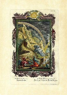 Genesis 9\/12-17, The Rainbow a Sign of Grace, plate 65 from Physica sacra or Copper Bible by Johann Jakob Scheuchzer (1672-1733