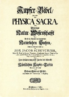 Title page of the Physica sacra or Copper Bible by Johann Jakob Scheuchzer (1672-1733
