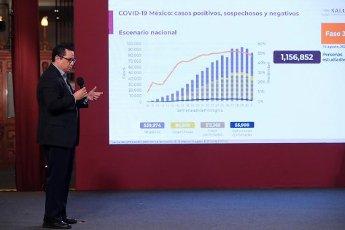 EUM20200814NAC03.JPG CIUDAD DE MÉXICO. Health\/Salud-Coronavirus.- 14 de agosto de 2020. José Luis Alomía, director de Epidemiología, durante la conferencia nocturna sobre el Coronavirus en México. Foto: Agencia EL UNIVERSAL\/EELG