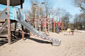 Corona virus social distancing regulations have locked busy public parks in Europe.