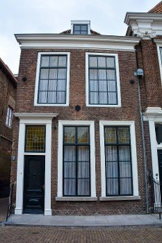Typical house in the old town ZIERIKZEE on Zeeland \/ Netherlands
