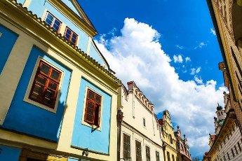 Historic Architecture in Krumlov,  Bohemia,  Czech Republic.
