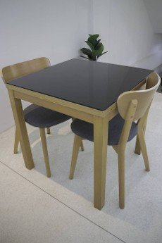Table and seat in co-working space,  stock photo