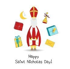 Vintage collection with st nicholas day stickers. Holiday greeting. Vector template collection. Vector design element. Celebration,  design,  vector. White background.